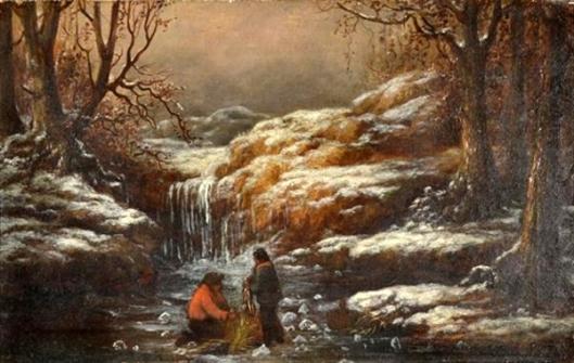 Ice Fishing In The Passaic River