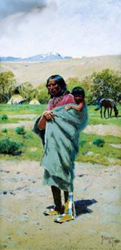 Indian Woman With Papoose
