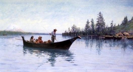 Indians Fishing N. W. Coast
