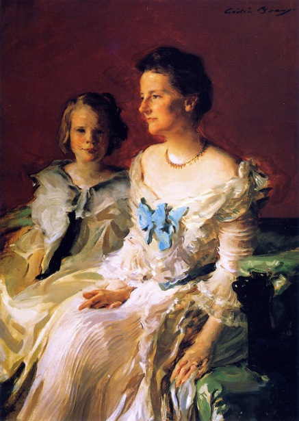 Mrs. Theodore Roosevelt And Daughter Ethel