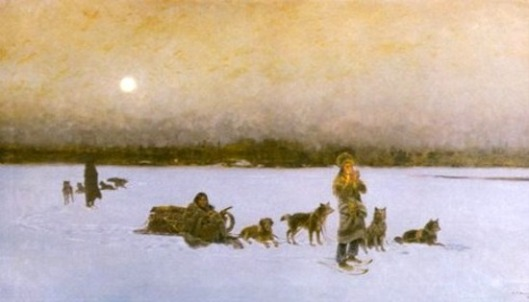 Traveling By Full Moon Winter