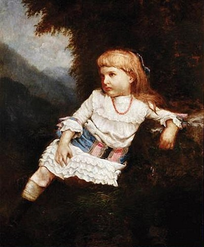 Young Girl In Mountain Landscape