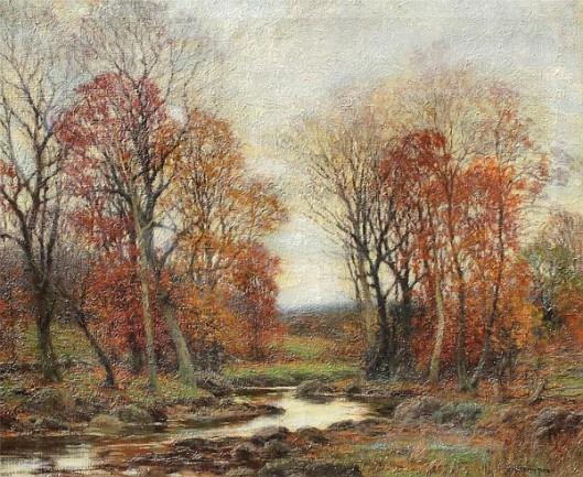Autumnal Landscape With Stream