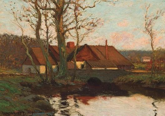 Farm By A Pond