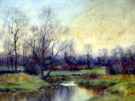 Landscape With Stream And Meadow