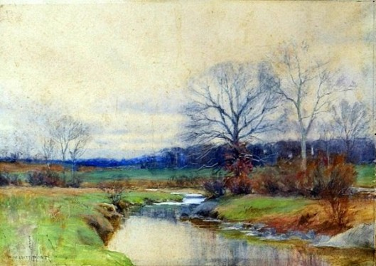 Late Autumn Stream Landscape