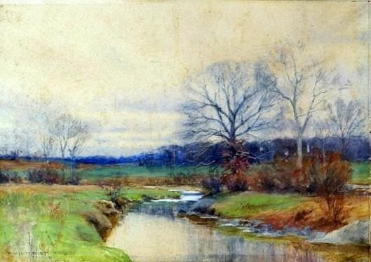 Late Autumn Stream Landscape