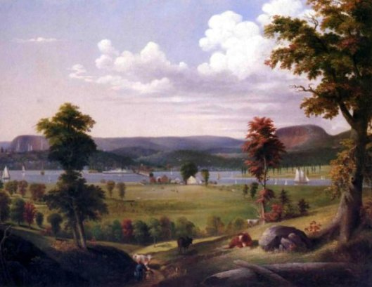 Summer Landscape Near New Haven, View From East Haven