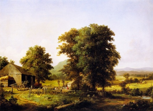 Summer Landscape - Summer Farm Scene