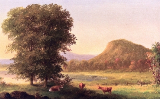 Summer Landscape With Cows, East Rock, New Haven