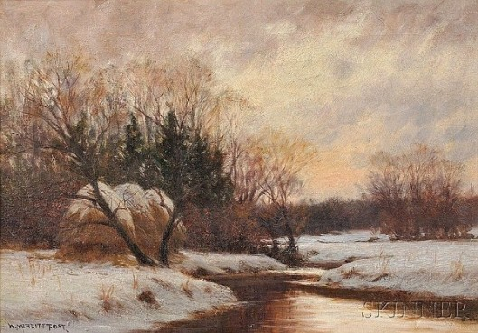 Winter Stream At The Meadow's Edge