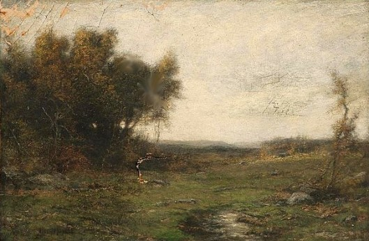 Bucolic Landscape With A Stream