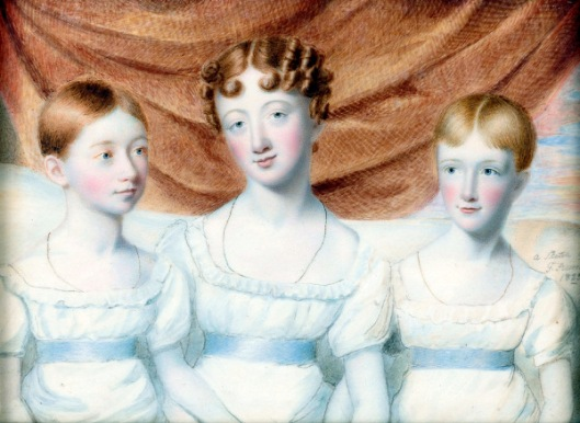 Lady With Two Daughters