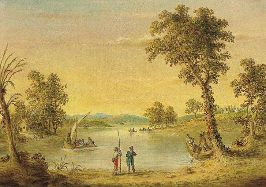 Landscape With Figures And Boat