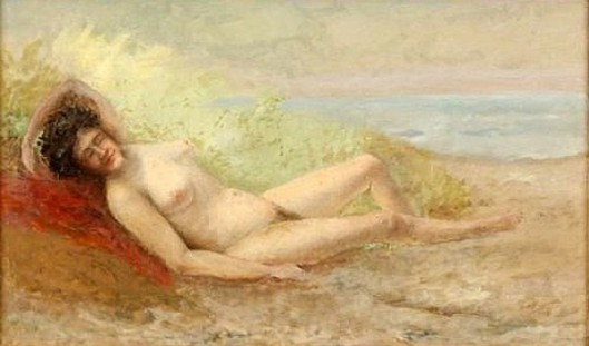 Reclining Nude, Griswold Beach, Old Lyme, Connecticut