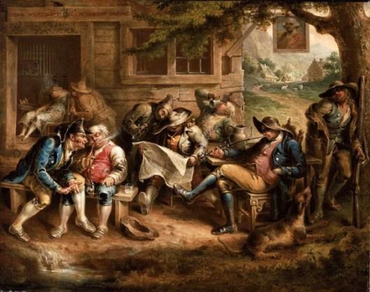 Rip Van Winkle And His Companions At The Inn Door Of Nicholas Vedder
