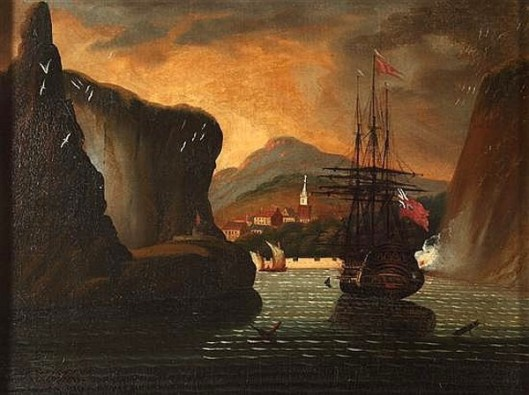British Ship In Harbor