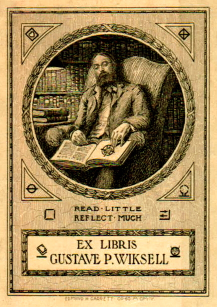 Ex Libris Gustave Wiksell