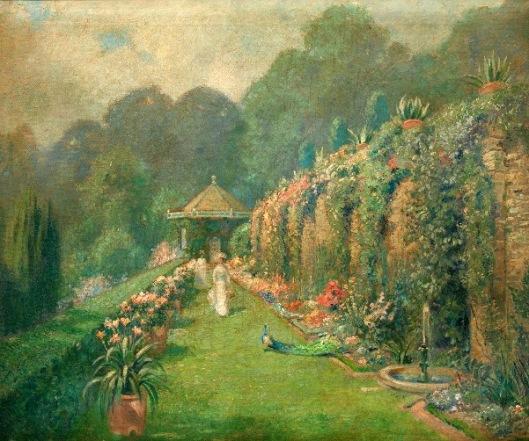 Garden With Peacock