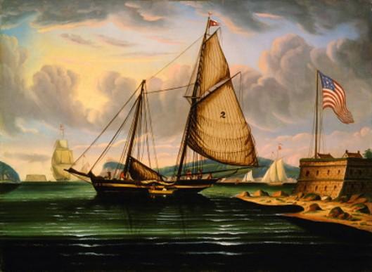New York Harbor With Pilot Boat George Washington