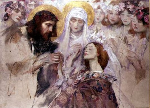 Christ Blessing A Young Woman