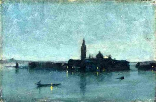 San Giorgio Maggiore From The Lagoon By Moonlight, Venice