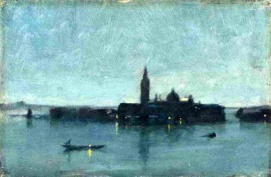 San Giorgio Maggiore From The Lagoon By Moonlight, Venice