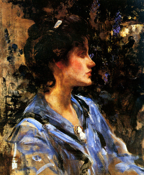Young Woman In Blue - Miss H. Strom