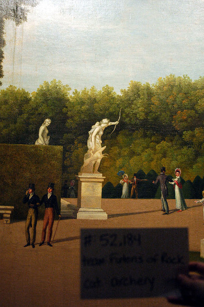Panoramic View Of The Palace And Gardens Of Versailles (detail)