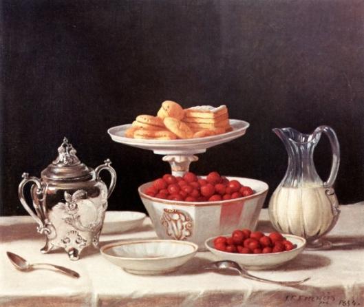 Dessert Still Life - Strawberries And Cream