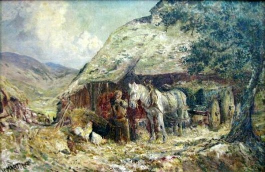 French Farm Scene With Chickens