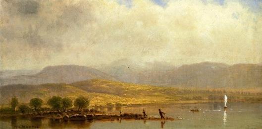 Landscape With Fisherman - Misty Morning On The Hudson River