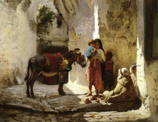 Arab Courtyard - The Orange Seller