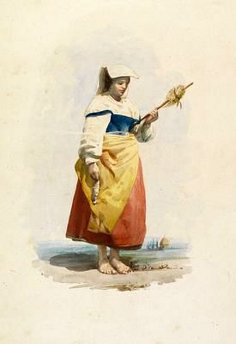 Contadina With A Distaff