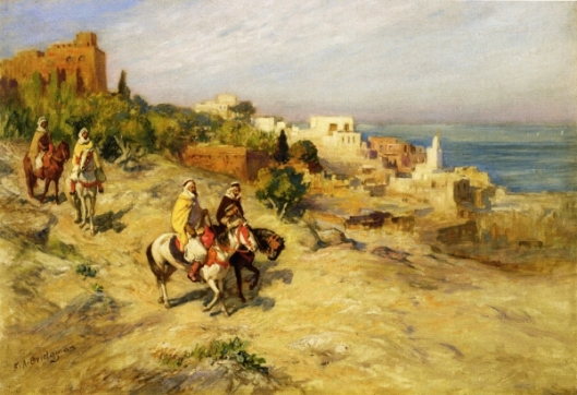 Horsemen On A Coastal Path, Algiers