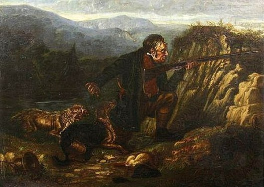 Hunter With Dogs And Catch