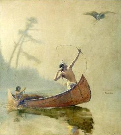 Indian Hunters In The Mist