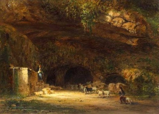 Italian Scene - Shepherds Returning To A Cave