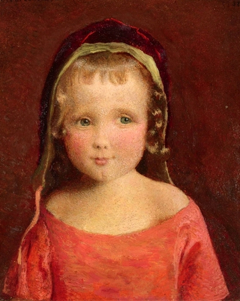 Little Girl In A Crimson Bonnet