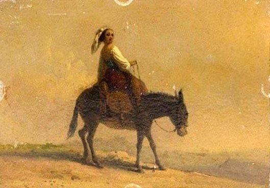 Maiden Riding A Mule