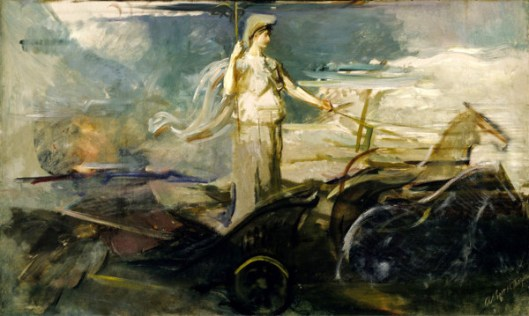 Minerva In A Chariot