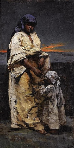 Mother And Child, Evening Desert
