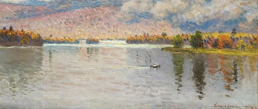 Rowing Across The Lake - A View Near Newry, Maine