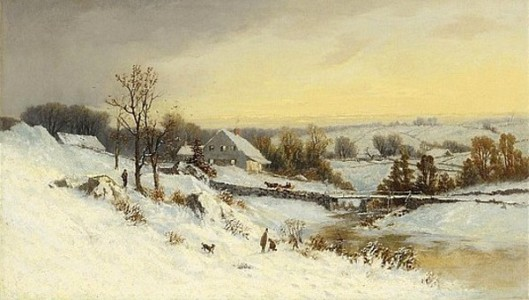 Snow-Covered Valley Near Albany, New York