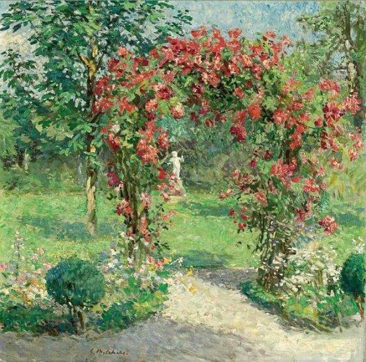 The Crimson Rambler - Backyard Of The Artist's Home In Egmond-den-Hoef, Holland