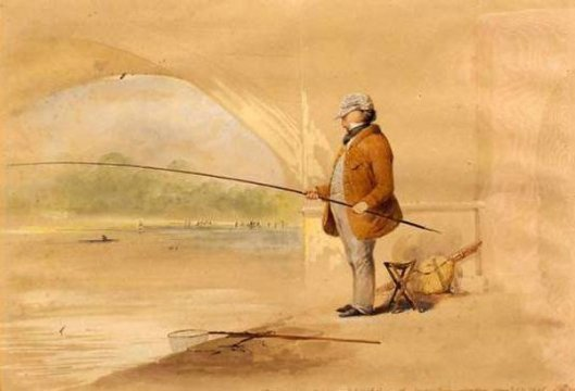 The Man Who Caught A Fish In The Serpentine, London (Self Portrait)