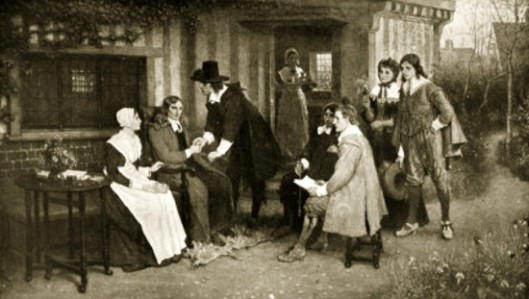 The Meeting Of Milton And Andrew Marvell