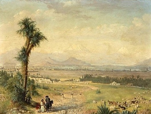 Valley Of Mexico With Mountains In The Distance