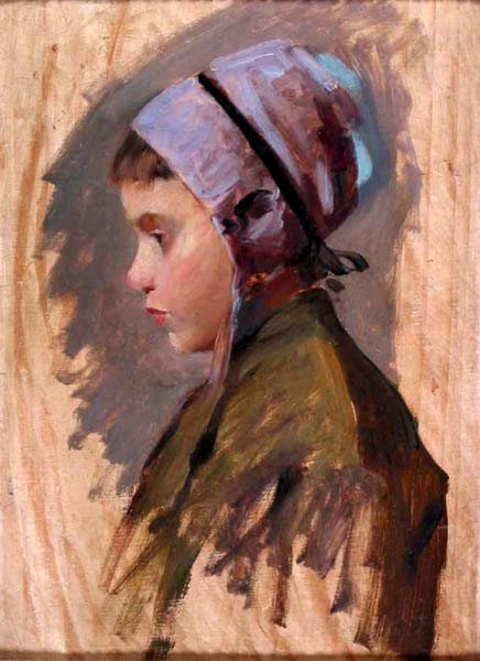 Young Girl In Profile, Study