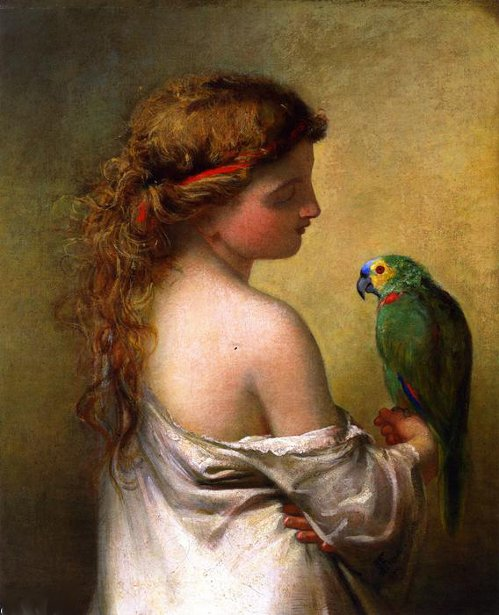 The Princess Prattles To Her Parrot